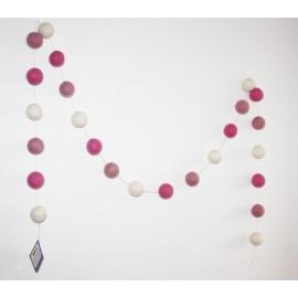 Gamcha - Girlang bollar Rosa