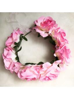 Blomsterkrans - Rosa ros