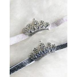 Hårband - Prinsesskrona metall