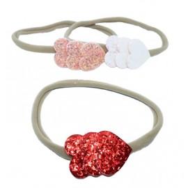 Tre hjärtan på rad - Hårband