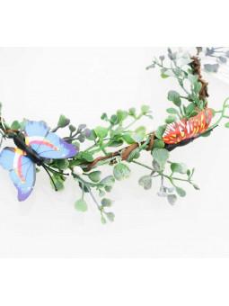 Blomsterkrans - Blad och fjäril