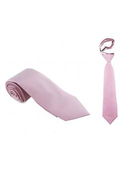 Gammelrosa slips - Siden - Stor och liten
