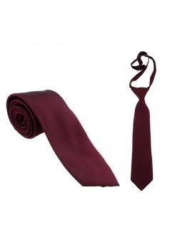 Vinröd slips - Siden - Stor och liten