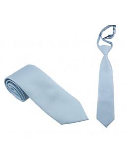 Babyblå slips - Microfiber - Stor och liten