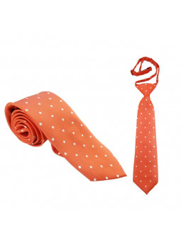 Orange prickig slips - Microfiber - Stor och liten