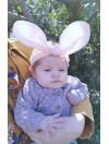 Bunny Rosa - Hårband
