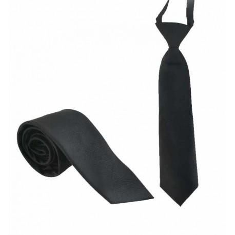 Svart slips - Microfiber - Stor och liten