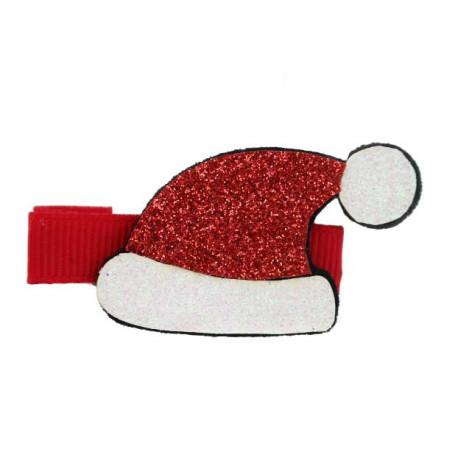 Hårklämma Jul Glitter- Tomteluva