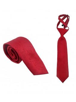 Mörkröd Paisley slips - Siden - Stor och liten