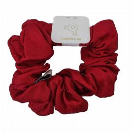Hårsnodd - Scrunchie Siden Mörkröd Paisley