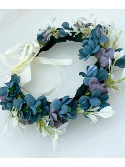 Blomsterkrans - Blå och lila