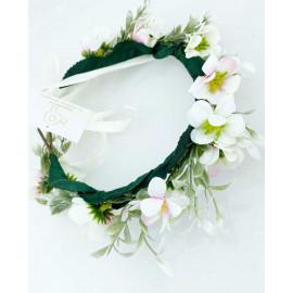 Blomsterkrans - Rosa och vit