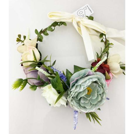 Blomsterkrans - Pion och ros