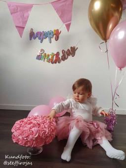 Baby tyllkjol - Kjolbyxa Gammelrosa