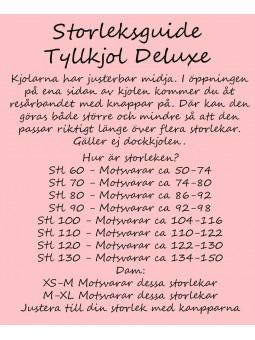Dam Tyllkjol deluxe Ljusrosa