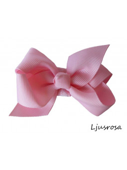 Hundrosett - Iris Liten Ljusrosa
