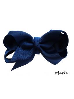 Hundrosett - Iris Stor Marinblå