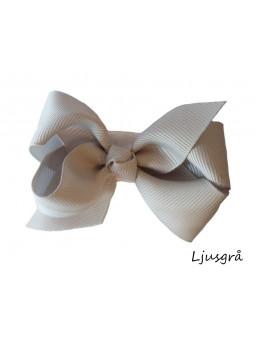 Hundrosett - Iris Stor Ljusgrå