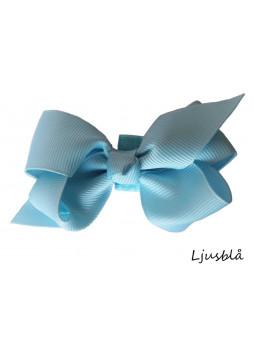 Hundrosett - Iris Stor Ljusblå