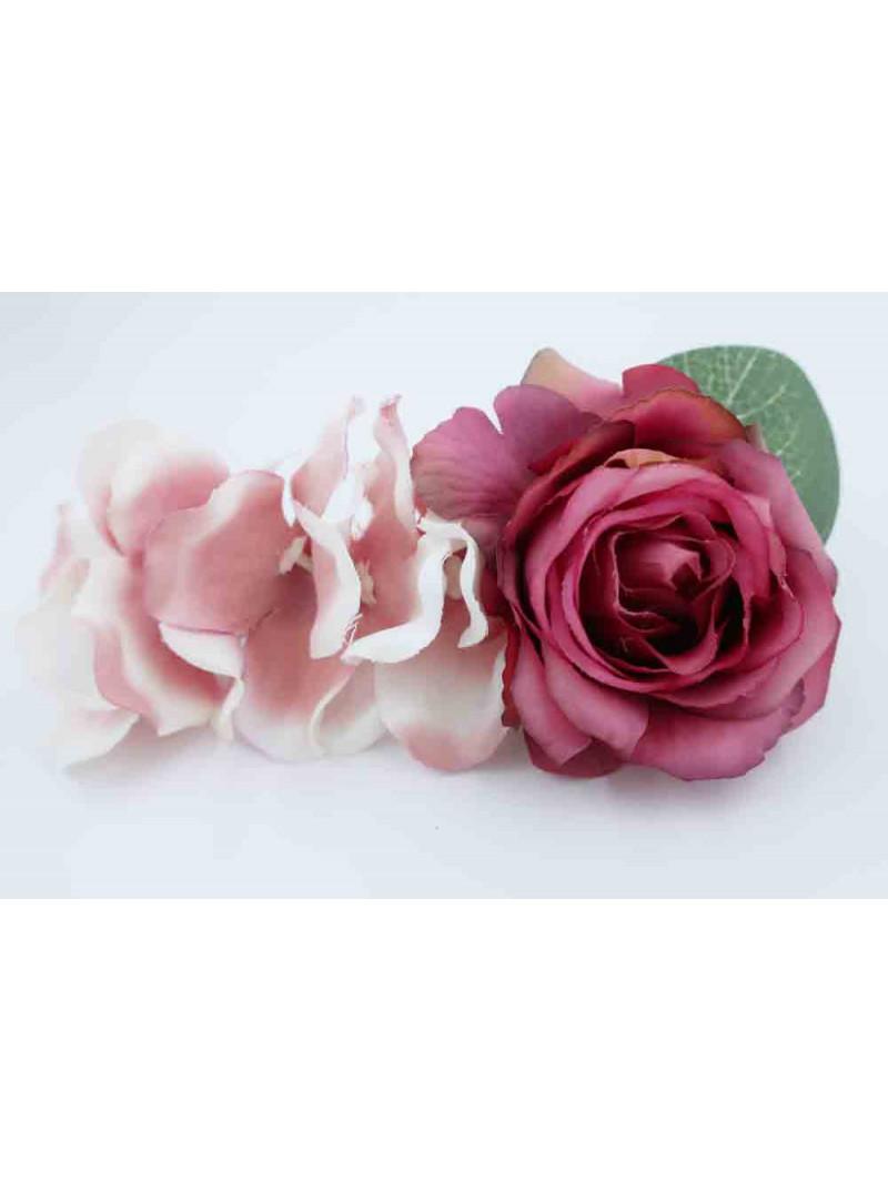 Hårspänne blommor - Gammelrosa Dröm